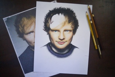 Ed Sheeran pencil drawing