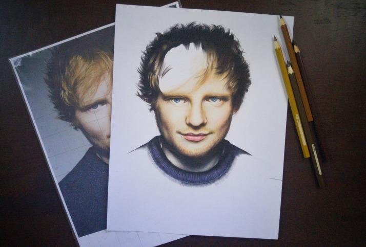 Ed Sheeran pencil drawing